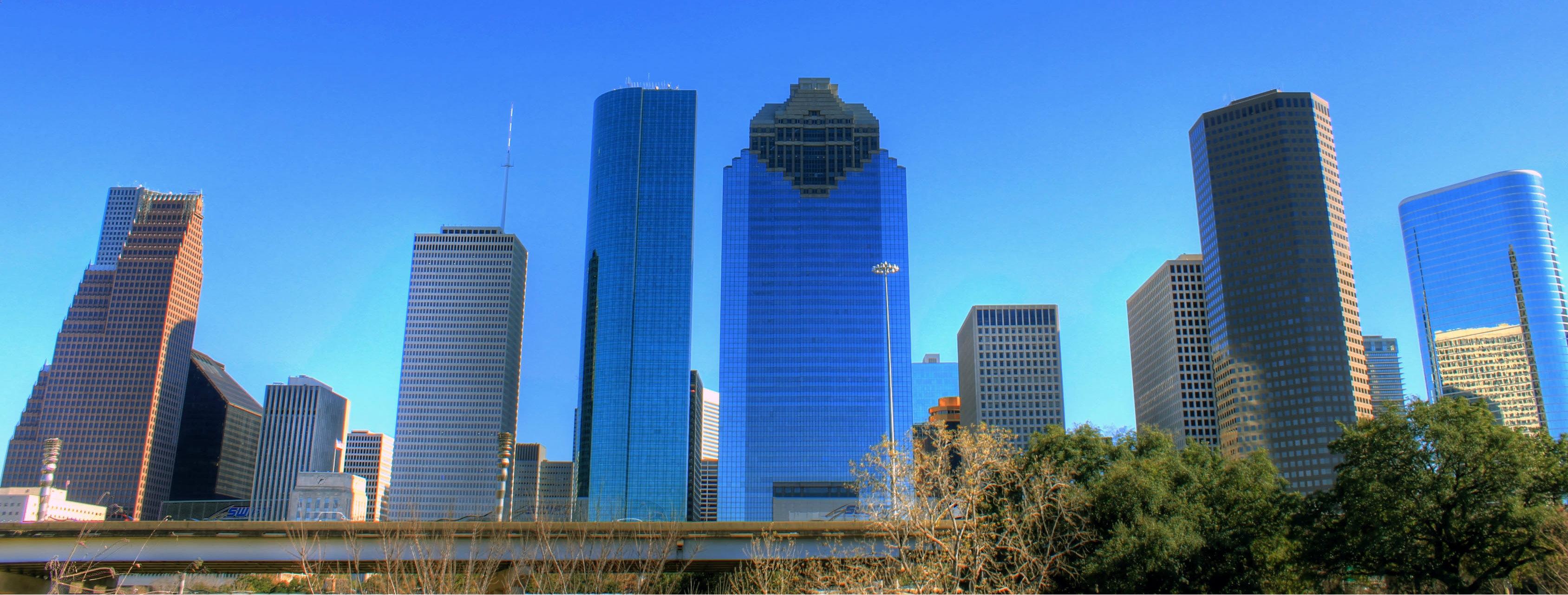 Texas houston skyline buildings